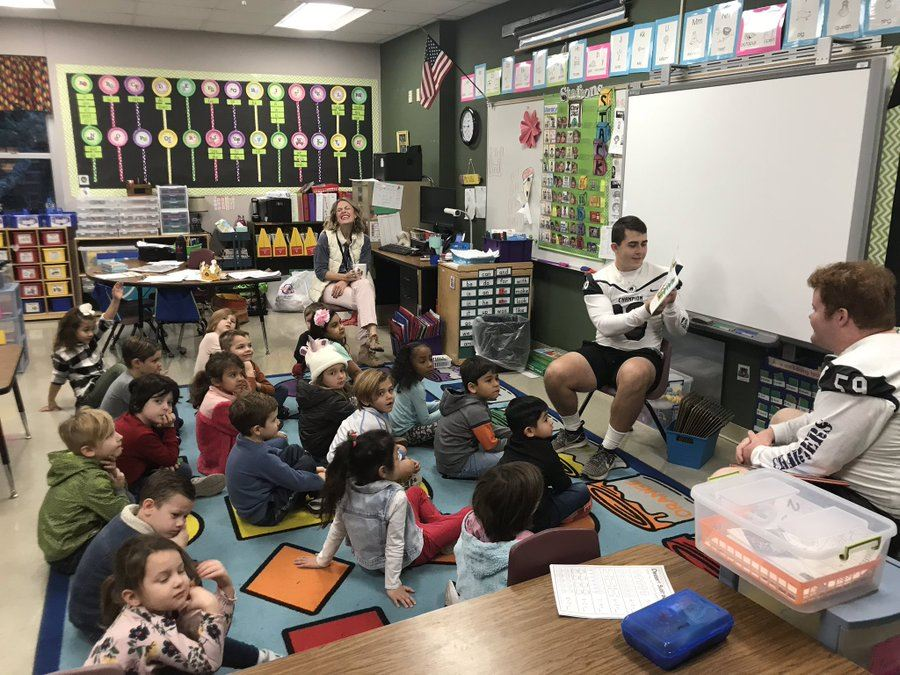 True Champions Reading to Kindergarten