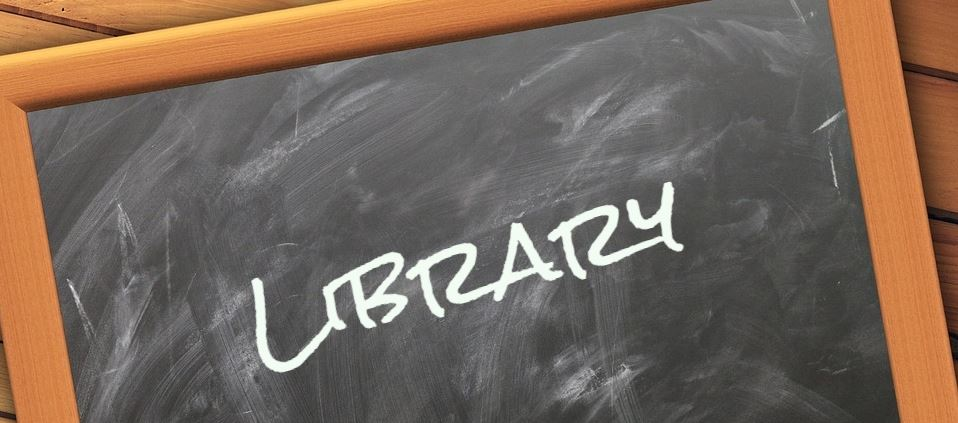 Library Chalkboard banner