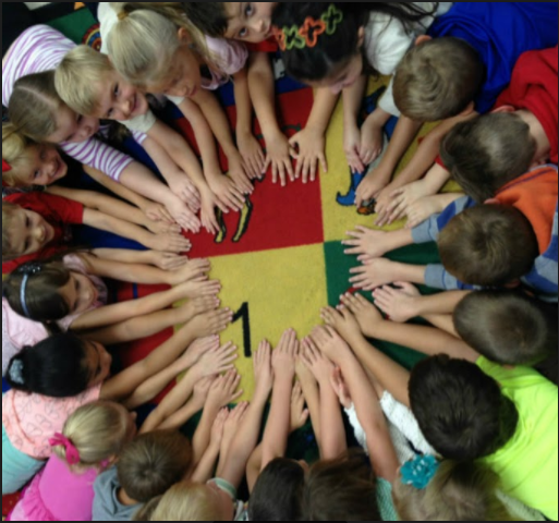 Picture of CCES students in a circle
