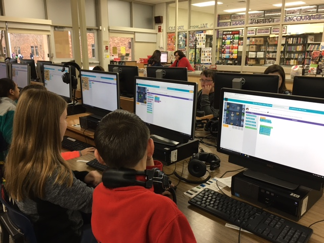 Students at BMSN participating in Coding Club