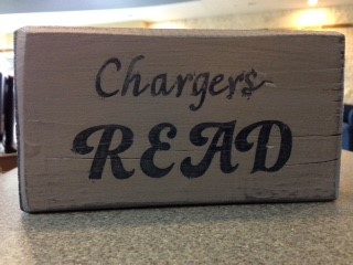 Chargers read sign