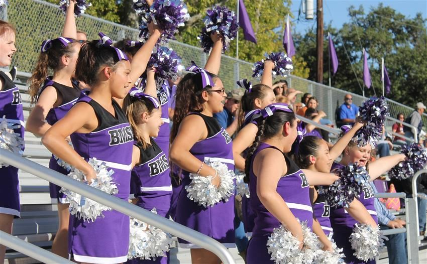 Pep Squad performing at football game