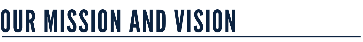 Our Mission and Vision Banner