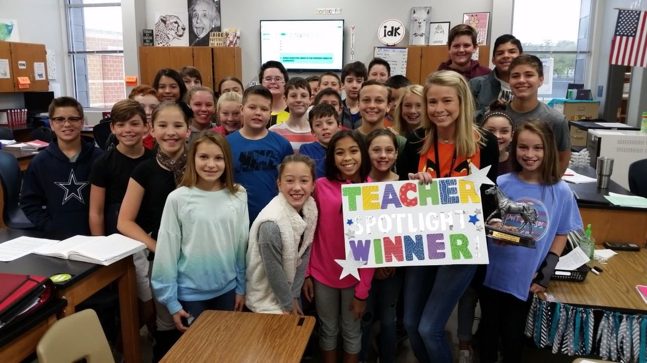 Teacher Spotlight Winner October 2017