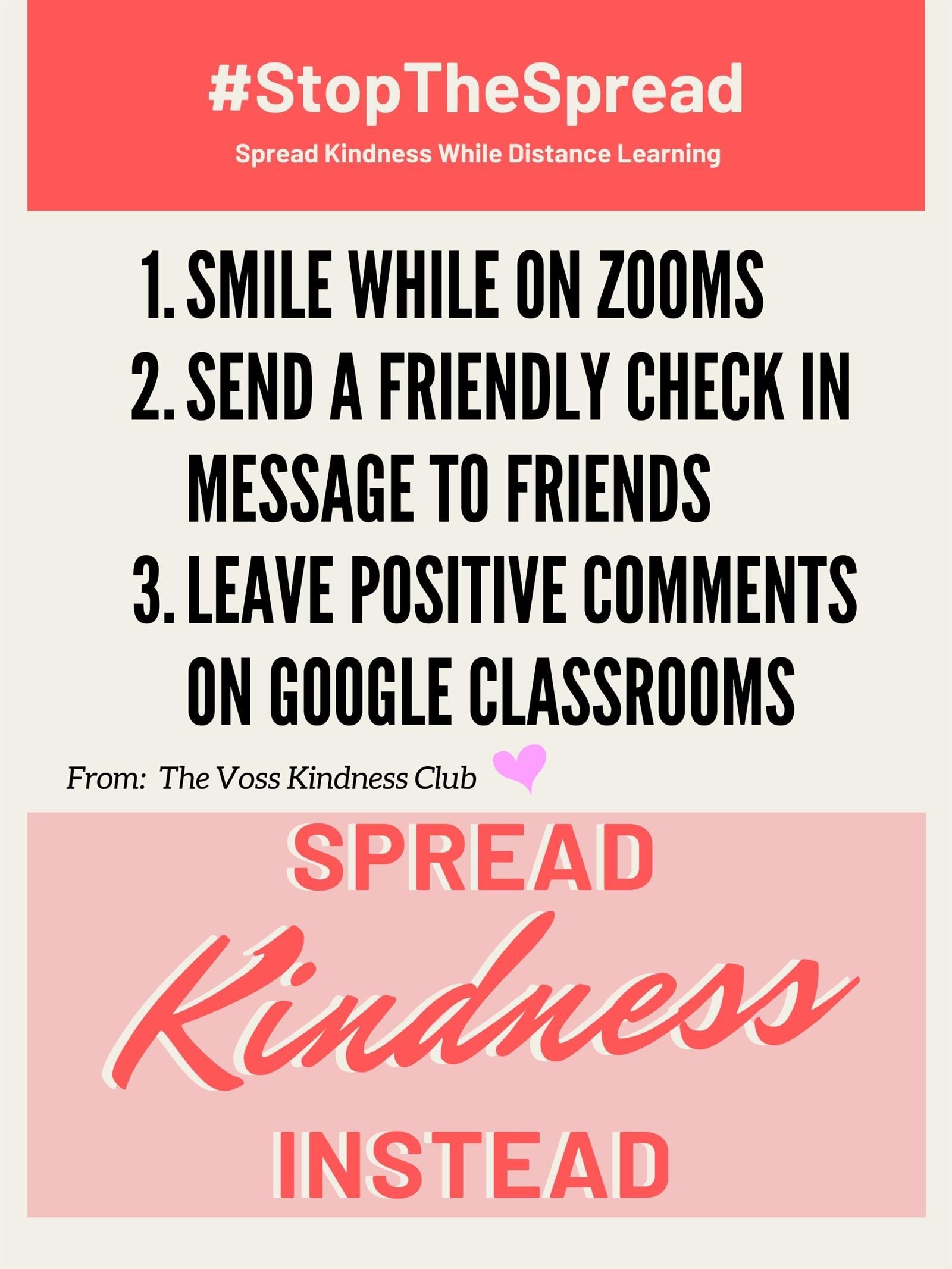 A Message from the Kindness Club