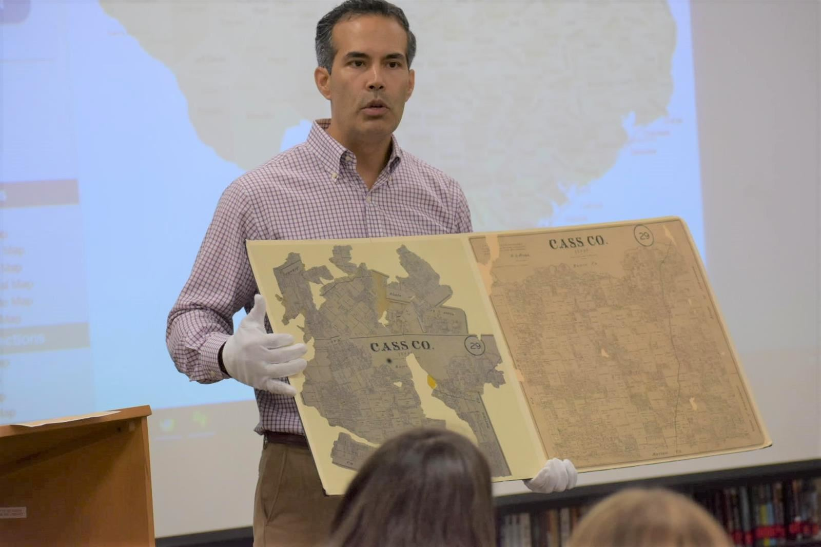 George P. Bush Teaches Map History at BMS-North