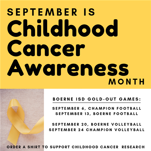Fourth Annual Boerne ISD 2019 Gold Out Campaign
