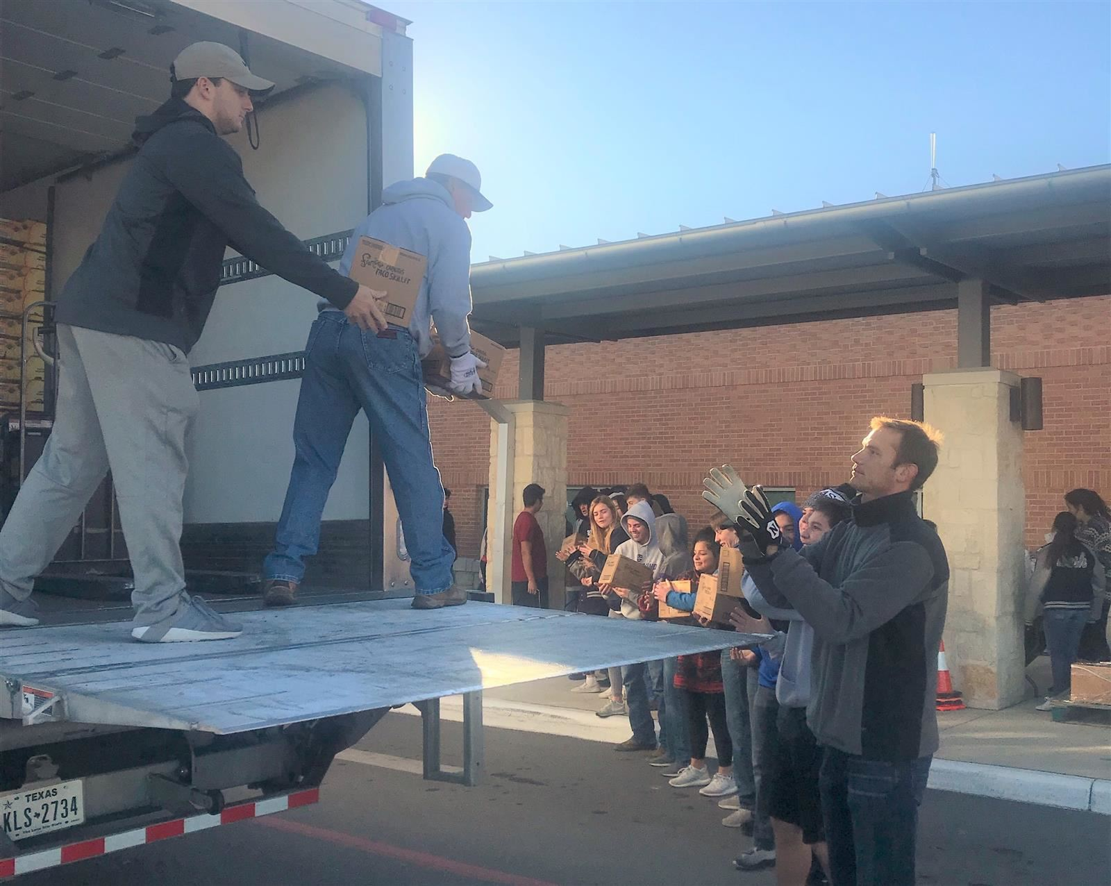 High Schools Come Together for Food Bank Distribution
