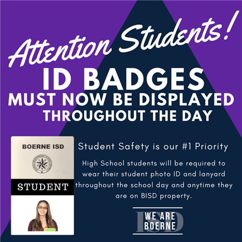 Identification (ID) Badges Now Required for all High School Students