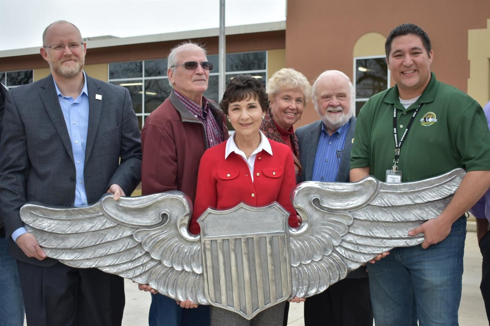 Voss Middle School Wing Sculpture Delivered Friday