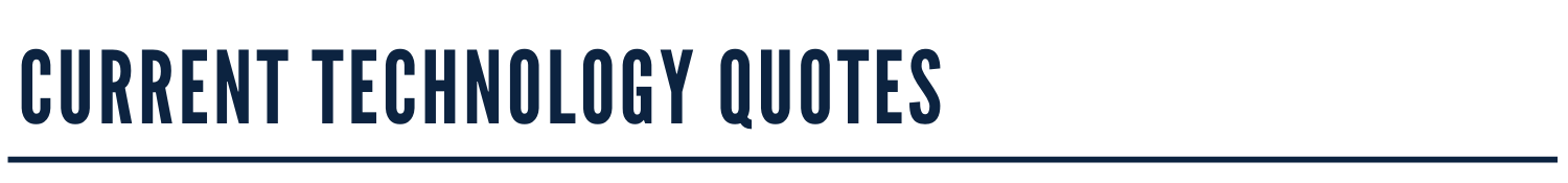 Current Tech Quotes Banner