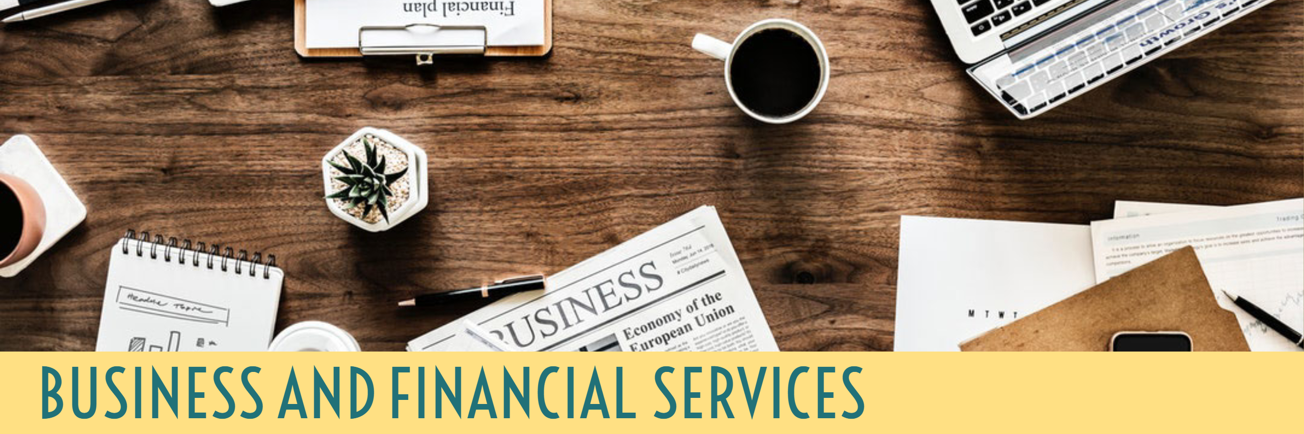 Business and Financial Services, banner image